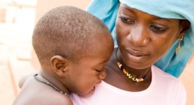 Black mother, child