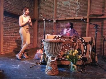 Cynthia McKinney Tour Cynthia, Brianna Brooks Santa Rosa 042513 by JR