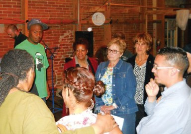 Cynthia McKinney Tour JR, audience members Santa Rosa 042513 by Morris Turner