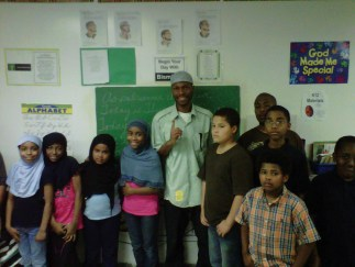 Malcolm, children at Masjid Al-Islam School in Washington D.C. 0611 by brr