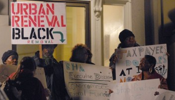 Berkeley public housing tenants press conf protesting privatization 011910 by Alexander Ritchie