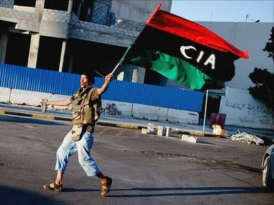 Libya rebel flag 'CIA'