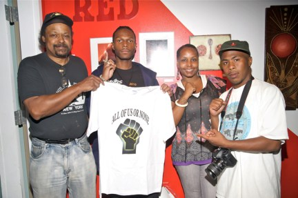Arthur League, Malcolm, Nadra Foster, JR at Black Dot 2011 by BR, web