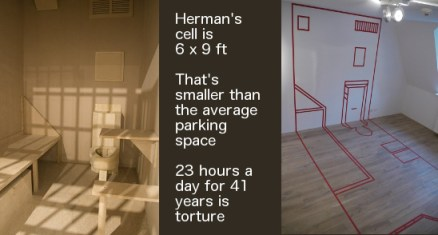 Herman Wallace's cell, model by Jackie Sumell