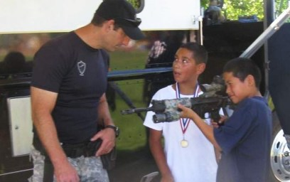 Santa Rosa SWAT gun booth for children MLK Park festival 0811 by Attila Nagy