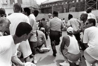 Folsom Prison fight begins 1298 Atlantic Monthly by Andrew Lichtenstein, Sygma