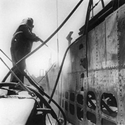 Hunters Point Shipyard sandblasting radioactive ship courtesy TimePix-2