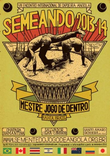 Semeando 2013-14 poster for Capoeira Angola conference Salvador, Bahia, web