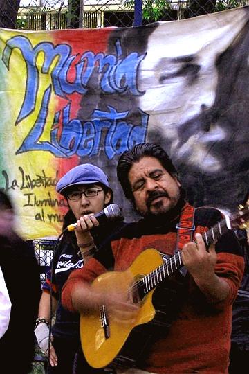 Jorge Salinas, former PP, Mumia Solidarity Week, Mexico 120908