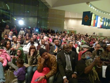 Mumia 30th anniv. imprisonment rally Nat'l Constitution Center Philly 120911 by Joseph Piette, Workers World, web