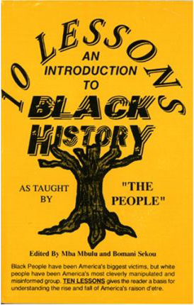 '10 Lessons An Introduction to Black History' by Mba Mbulu cover
