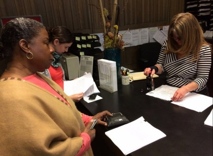 Midtown Bd Pres. Marchell Johnson files rent control petition with Rent Board 020314, web