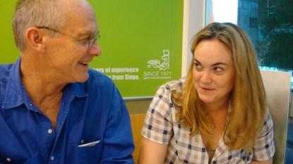 Bob Yaeger, daughter Rebecca