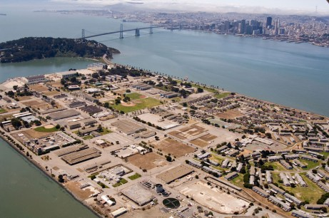 Treasure Island, aerial view, web