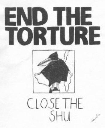 """Close the SHU"" – Photo: Jose Villarreal, H-84098, PBSP SHU C11-106, P.O. Box 7500, Crescent City CA 95532"