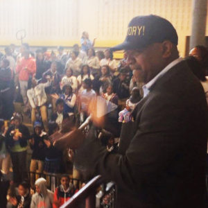 Ras Baraka announces mayoral victory to students at high school he principals 051414