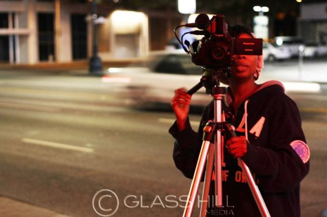 Filmmaker Robyn Charles behind the camera