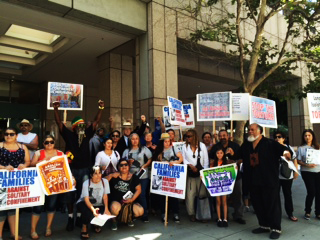 "A rally called ""Remembering the Hunger Strikers One Year Anniversary … to Commemorate the Largest Hunger Strike in History,"" organized by California Families Against Solitary Confinement, was held from 11 a.m. to 1 p.m. at the Los Angeles State Building."