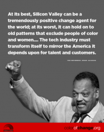 Jesse Jackson's Silicon Valley anti-exclusion campaign graphic 0714