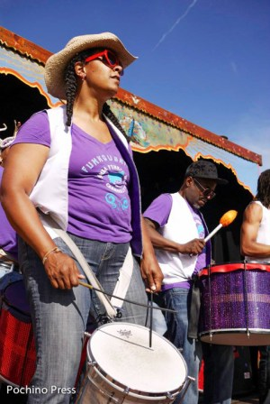Music – from Afrobeat to the Vukani Mawethu Choir – will fill the air in West Oakland at the Umoja African Festival Aug. 16. These photos are from last year's festival. – Photo: Pochina Press