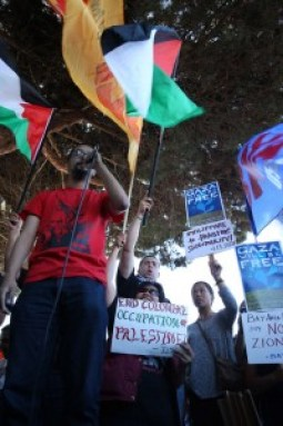 The Bagong Alyansang Makabayan (New Patriotic Alliance) of the Philippines, commonly known as Bayan USA, was there in force speaking out against Israel. – Photo: Malaika Kambon
