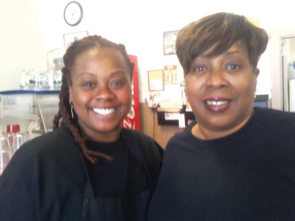 Auntie April's chef April Spears, mom visiting from Memphis 0814 by Rochelle