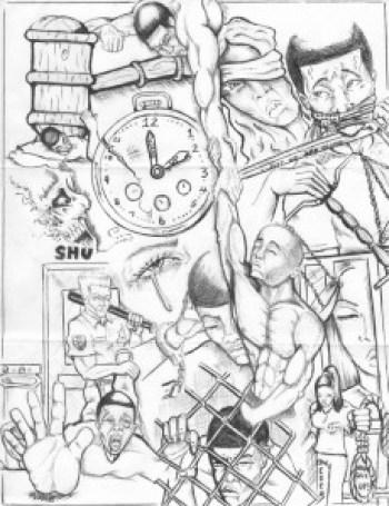 """""""Wake Up"""" – Art: Roger """"Rab"""" Moore, G-02296, HDSP SHU Z-168, P.O. Box 3030, Susanville CA 96127"""