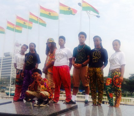 YGB Gold in Ghana – these are some of the founding members Young Gifted and Black.