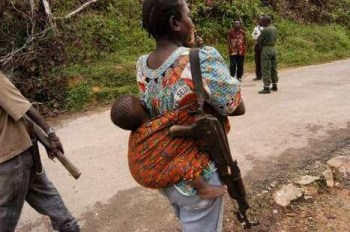 Besides her baby, she's now carrying a weapon to defend herself.
