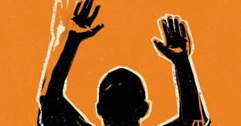 Racial justice hands up graphic 1214