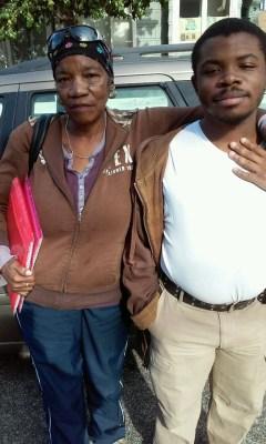 Bessie Taylor and her autistic son, Devonte