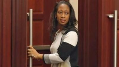 Marissa Alexander leaves the courtroom on Jan. 27 – free at last, sort of. – Screenshot: WJXT