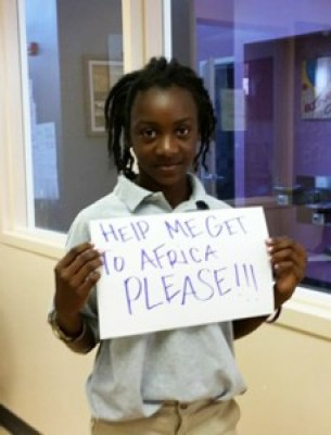 Send Mack to Africa Campaign 'Help me get to Africa' 0115