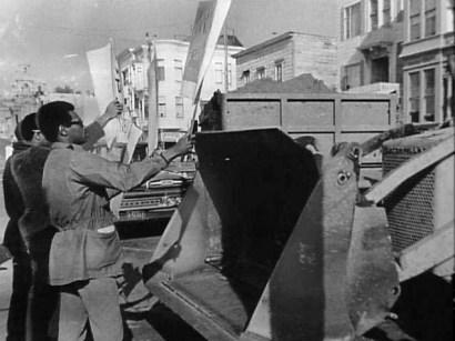 Fillmore Blacks stop Redevelopment bulldozers by SF Examiner