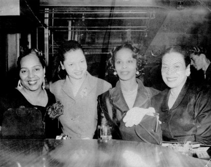 Leola King is second from left in this damaged photo from her Blue Mirror on Fillmore.