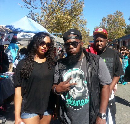 Ra'shida, rappers Freeway and the Jacka soak up the sun at Rock the Bells in Mountain View in October 2013. – Photo: JR Valrey, Block Report