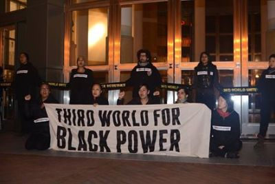 On Friday, Jan. 16, to kick off the #ReclaimMLK weekend, protesters with Third World Resistance chained themselves to the Oakland Federal Building entrances, shutting it down for four hours and 28 minutes. – Photo: Critical Resistance
