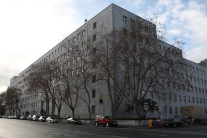 "The San Francisco County Jail occupies the upper floors of the Hall of Justice at 850 Bryant. San Francisco's sheriff, district attorney and police chief, as well as its elected public defender, said they are shocked to learn of ""gladiator fights"" in the local jail. The fights are reminiscent a similar scandal in the state prison system in the 1990s. – Photo: Cindy Chew, SF Examiner"