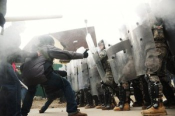 The courage of Black youth in one rebellious city after another is bound to make change. Confrontations like this have made headlines since BART police murdered Oscar Grant in Oakland on New Year's 2009. It was the Oakland rebellion that inspired Ferguson youth.