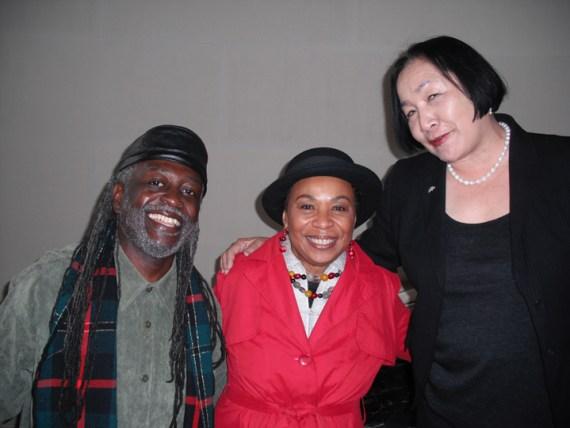 Baba Jahahara with Congresswoman Barbara Lee and former Oakland Mayor Jean Quan