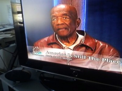 """Charlie Walker on his Cable 29 TV show, """"America Is Still the Place"""" – Photo: Rochelle Metcalfe"""