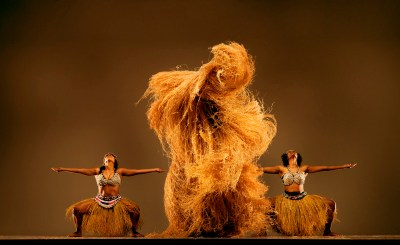 Diamano Coura brings Africa to the Bay during opening week of the San Francisco Ethnic Dance Festival. These dancers are Antoinette Holland and Jessica Harden. – Photo: RJ Muna