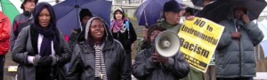Greenaction protests environmental racism in Bayview Hunters Point.