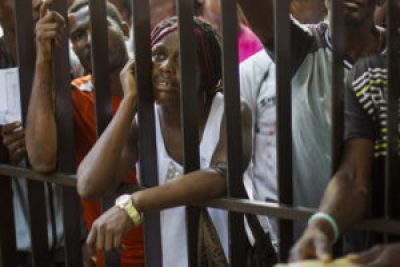 In this and the next two photos, Haitians line up to legalize their status at the Interior Ministry in Santo Domingo, on June 17, 2015. Tens of thousands of people are facing deportations as a deadline for foreigners, most of them being Haitians, to legalize their status as undocumented aliens is due to expire at midnight. – Photos: Erika Santelices, AFP