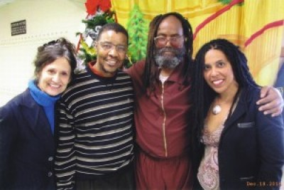 At a visit to Mumia on Dec. 18, 2014, are Heidi, Keith Cook, Mumia's older brother, and Johanna.