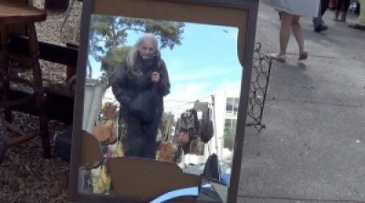Me videoing you at Treasure Island Flea – Photo: Carol Harvey
