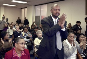 Aaron was front and center when the announcement came in March 2003 that the Illinois death penalty had been abolished.