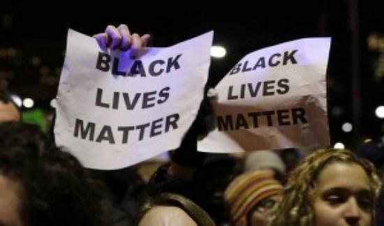 """""""Black Lives Matter"""" signs in Ferguson"""