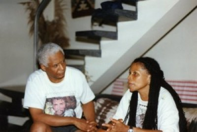 Dr. Small's support for radical change agents has never wavered. Here he interviews political exile Assata Shakur in Havana in August 1997.