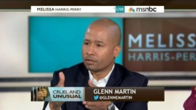 Glenn E. Martin, an organizer of formerly incarcerated people who aims to cut the corrections population in half by 2030, is interviewed on the Melissa Harris Perry Show.